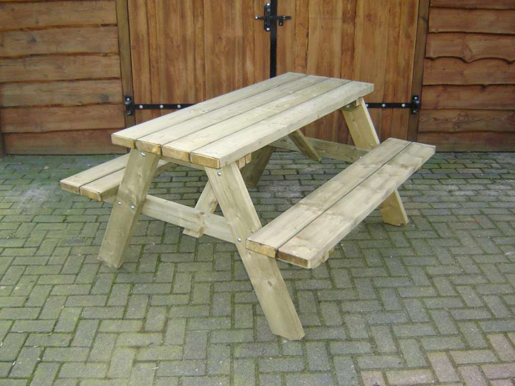 Vier persoons picknicktafel